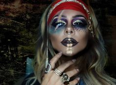 Pirate Halloween Makeup || IG: @beauty.x.jenna #piratemakeup #halloweenmakeup #halloweenmakeupideas