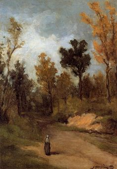 The Forest Path - Paul Gauguin  I love the way I feel the vastness of nature in the landscape because of the placement of the person in the foreground.