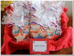 Memorial Day Cookout Menu: Patriotic star cookie cut-outs with royal icing #memorialday