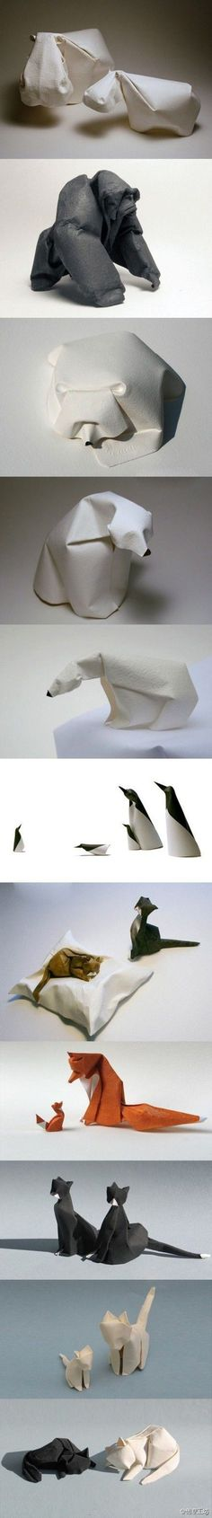 Origami Zoo by Dinh Truong Giang #Origami #Animals: