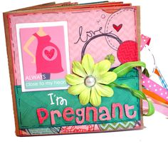 I'm Pregnant  Pregnancy Premade Scrapbook  by apicketfencelife, $30.00