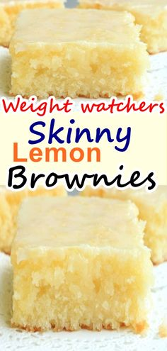 you love lemon bars or lemon brownies ? this lemon lemon brownies recipe is the best ever, come with only 3 weight watchers points you love lemon bars or lemon brownies ? this lemon lemon brownies recipe is the best ever, come with on Weight Watchers Brownies, Weight Watcher Desserts, Weight Watchers Kuchen, Plats Weight Watchers, Weight Watchers Diet, Weight Watchers Cupcakes, Weight Watchers Recipes With Smartpoints, Weight Watcher Cookies, Weigh Watchers
