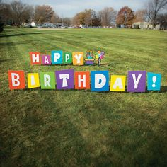 There will be no disguising the birthday star with this large outdoor yard sign! Put together the letters and stakes to spell out happy birthday! Perfect for . Diy Birthday Sign, Happy Birthday Yard Signs, Birthday Star, Mexican Birthday, Birthday Ideas, Birthday Gifts, Outdoor Birthday Decorations, Yard Decorations, Homemade Birthday Decorations
