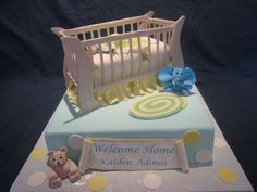 Crib, Baby on Cake Central