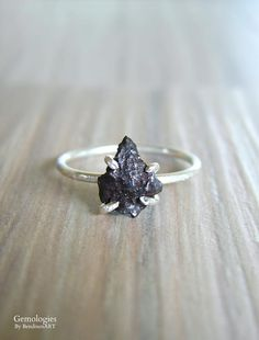 Meteorite Jewelry for Her Pure Meteor Specimen from Russia