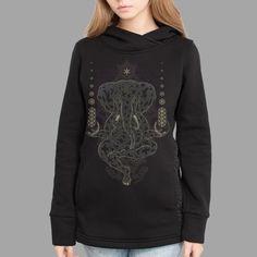 Ganescher Women Sweatshirt #graphicillustration #hindu #mythology #spirituality #frontprint #hoodie #tessellation #symbolika