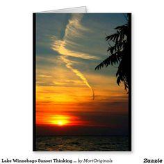 Lake Winnebago Sunset Thinking Of You Greeting Card