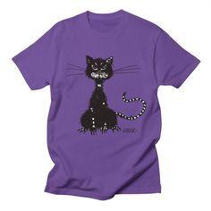 Ragged Evil Cat Men's T-shirt by boriana