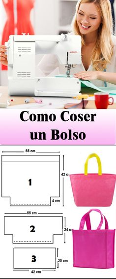 Coser Bolso Facil - Diy Tutorial and Ideas Techniques Couture, Patchwork Bags, Nail Tutorials, Embroidered Silk, Photography Tutorials, Quilt Making, Hand Sewing, Sewing Projects, Crochet