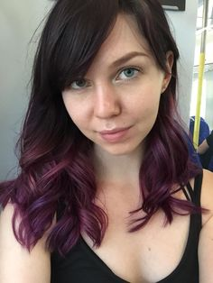 dark purple with subtle ombre