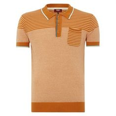 Connolly Striped knitted polo 100% cotton