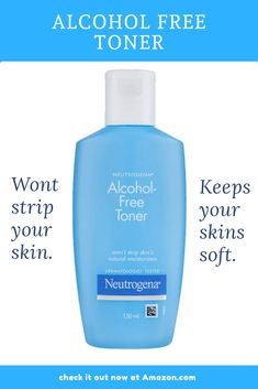 Alcohol-free Toner by Neutrogena. Won't strip your skin instead keep your skin's natural moisture intact to give it shiny look and glow all day long. Toner For Face, Facial Toner, Alcohol Free Toner, Natural Moisturizer, Natural Skin, Cleanse, Glow, Sparkle