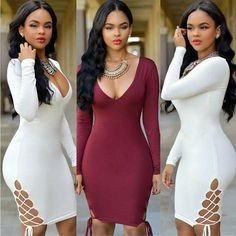 3a031998314 WOMEN S DRESSES. Long Sleeve Club DressesLong Sleeve Bandage DressSleeve ...