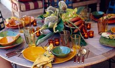 A Taste of Mexico | ColinCowie.com. Fabulous table setting.