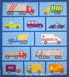 $8 Just Trucks Quilt Pattern