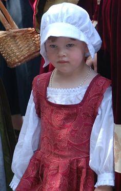 Kinder-Renaissancekleid Sommervariante