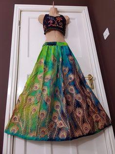59f51a23940 Plus size Peacock Boho Tie Dye Skirt Hippie Party Gypsy Festival 16 18 20  22 24