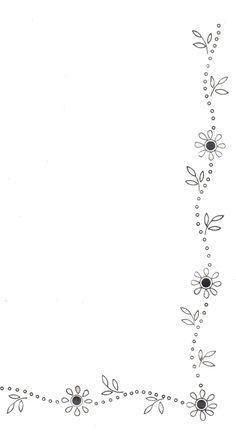 Daisy Flower Border- cute