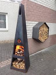 Steel - Metal chiminea - Chimenea - Outdoor Wood Fire ...