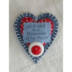 Fabric Heart Brooch/Pin, Handmade, red, white, blue quilt scraps, A... ($7) ❤ liked on Polyvore featuring jewelry, brooches, pin jewelry, red brooch, red jewelry, white jewelry and blue brooch