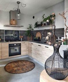 61 Best Kitchen Cabinets Design Ideas To Inspiring Your Kitchen 33 - - Kitchen Room Design, Kitchen Cabinet Design, Kitchen Sets, Modern Kitchen Design, Home Decor Kitchen, Interior Design Kitchen, Home Kitchens, Best Kitchen Cabinets, Küchen Design