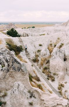 The 1.5-mile Notch Trail in Badlands National Park.                                                                                                                                                                                 More