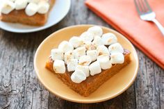HG's Sans Sweet Potato Casserole - butternut squash, egg whites, vanilla unsweetened almond milk, Truvia, maple extract, cinnamon, vanilla extract, pumpkin pie spice, salt, miniature marshmallows (would omit or use sugar-free)