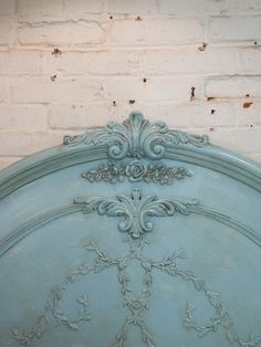Painted Cottage Shabby Aqua Headboard by paintedcottages on Etsy