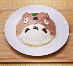 the lovely cake  #japanese #japan #totoro #ghibli #ghiblilover #cute #sweets #meals #studioghibli #トトロ #となりのトトロ #トトロごはん #ジブリ #キャラクター