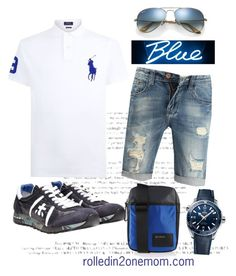 """""""blue"""" by nhessie-agustin on Polyvore featuring Polo Ralph Lauren, Premiata, Diesel, OMEGA, Ray-Ban, men's fashion and menswear"""