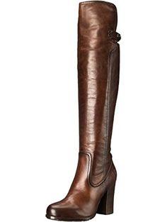 FRYE Women's Parker Over The KneeAPU Engineer Boot,  Dark Brown, 8.5 M US ❤ Frye