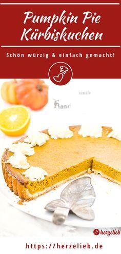 Kürbis Rezepte, Kuchen Rezepte: Pumpkin Pie Rezept von herzelieb. Pumpkin Pie schnell und einfach! Pumpkin Pie Rezept deutsch - ein Kürbiskuchen Rezept, das sehr viel einfacher ist, als man vermutet.    Ein supersaftiger Kürbiskuchen nach amerikanischer Art. Eine echte Geschmacksexplosion als Nachtisch oder für den Kaffeetisch!