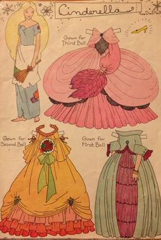 Antique Cinderella paper doll *** Paper dolls for Pinterest friends, 1500 free paper dolls at Arielle Gabriel's International Paper Doll Society, writer The Goddess of Mercy & The Dept of Miracles, publisher QuanYin5