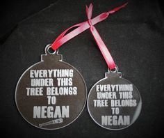 The Walking Dead inspired hand-engraved Christmas decoration