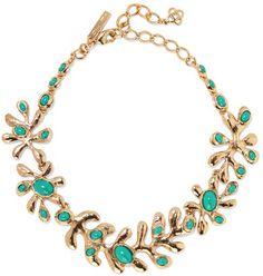 Oscar de la Renta - Sea Tangle Gold-tone Resin Necklace