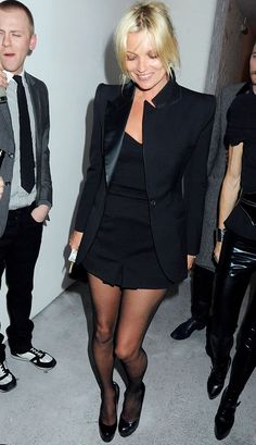 The Many Black Jackets of Kate Moss via @WhoWhatWear