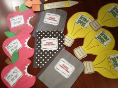 Such good ideas. Can't wait to use them in my future classroom!