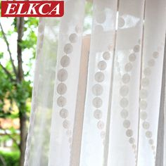 Elegant Wave Embroidered White Tulle Curtains for Living Room Sheer Curtains for Kitchen Modern Curtains for Bedroom Drapes Living Room Drapes, Bedroom Drapes, Scarf Valance, Curtain For Door Window, Window Types, Tulle Curtains, Modern Curtains, White Tulle, Kitchen Curtains