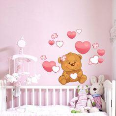 cheap blu cartoon orso wall stickers home decor per bambini camera ... - Carta Da Parati Per Camerette Neonati