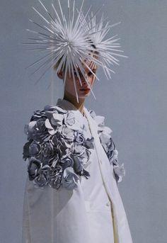 """White Drama"" Comme des Garcons s/s 2012 for Elle Japan February 2012"