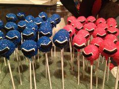 Power ranger Cake Pops!!!