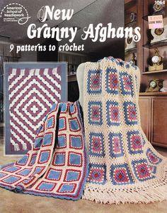 Granny Square Afghan Crochet Patterns  9 Designs por PaperButtercup, $6.00