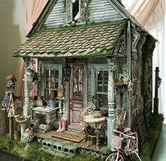 Girls Dollhouse, Diy Dollhouse, Dollhouse Furniture, Dollhouse Miniatures, Miniature Crafts, Miniature Houses, Miniature Dolls, Fairy Houses, Doll Houses