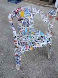 Come recuperare... delle sedie di plastica rovinate.
