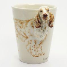 English Setter Dog Mug 00004 Ceramic 3D Pet Lover Gift Handmade.