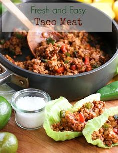Fresh and Easy Taco Meat Paleo and Whole30