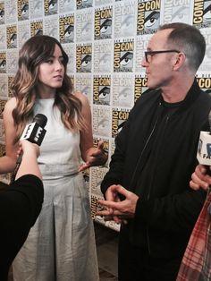 Chloe Bennet, Clark Gregg || SDCC 2015 || #cast