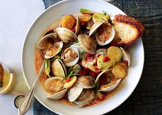 Littleneck Clams with New Potatoes and Spring Onions - Bon Appétit
