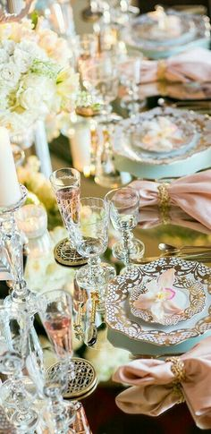 ♔ GlaMBarbiE ♔ LUXURY TABLESETTING ГЛАМУРНАЯ ДЕКОРАЦИЯ СТОЛА