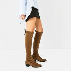 FLAT OVER-THE-KNEE BOOTS-Boots-SHOES-WOMAN | ZARA United States